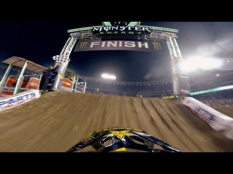 GoPro: Davi Millsaps Winning Run at Anaheim Opener - Monster Energy Supercross 2013