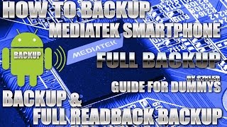 How to BACKUP / READBACK Mediatek MTK Smartphones with MTK Droid Tools / SP Flash Tool