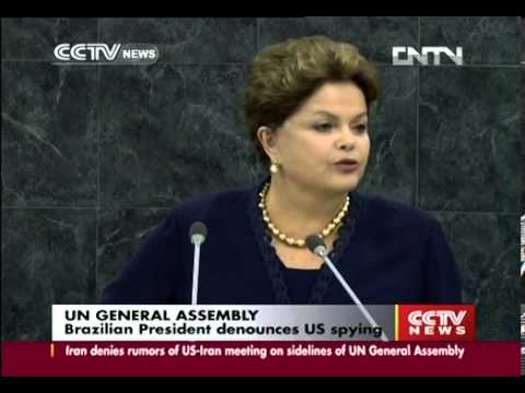 Brazilian president denounces US spying at UNGA