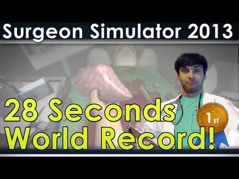 Surgical Simulator 2013 New World Records 28 Seconds Save. 8 Seconds Kill + Commentary
