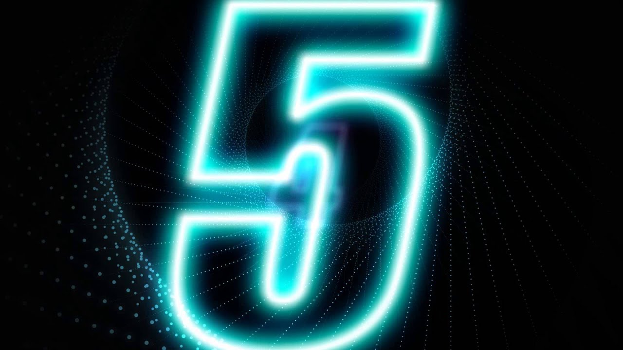 Ger Eng Media Countdown Glow Number V1 After Effects