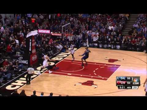 Dallas Mavericks vs Chicago Bull Shooter Attempts To Draw Foul