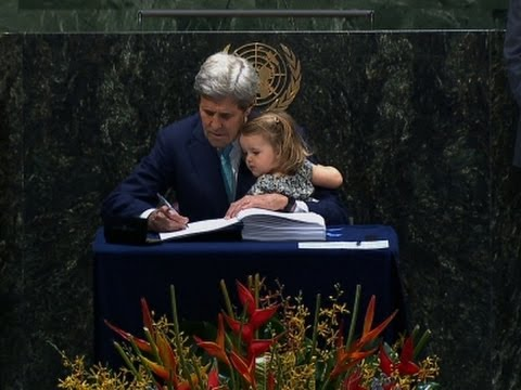 Kerry Signs Climate Agreement With Granddaughter