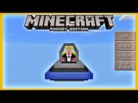 [0.14.0] ยูเอฟโอ!! รถถัง เฮลิคอปเตอร์ - มอดยานพาหนะ Mech Mod   Minecraft PE 0.14 Mod