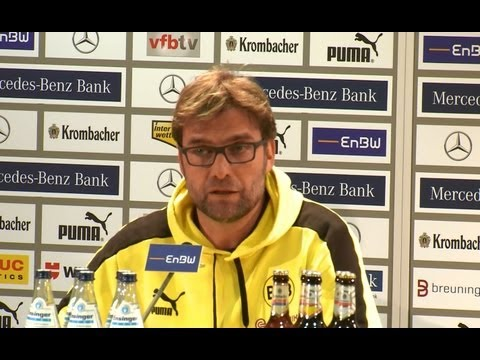 BVB Pressekonferenz VfB Stuttgart gegen Borussia Dortmund 1:2 nach dem Spiel | Jürgen Klopp Labbadia