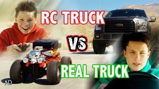 Real Truck vs RC Monster Truck!