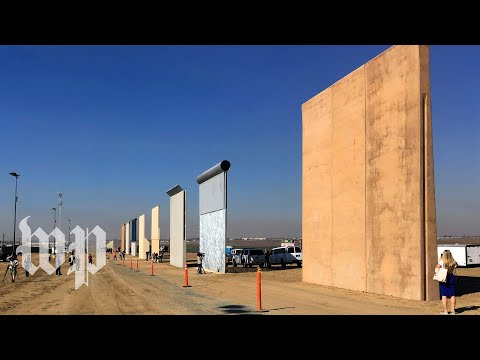 Trump reviews border wall prototypes