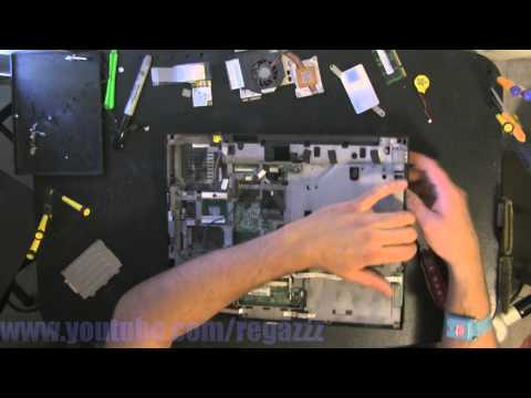 IBM LENOVO R60 take apart video, disassemble, how to open disassembly