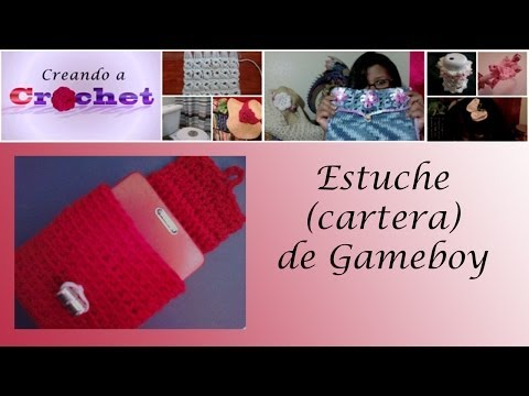 Estuche (cartera) de Gameboy -Tutorial de tejido crochet
