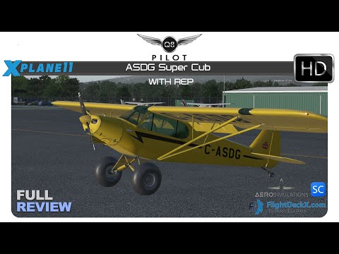 [X-Plane 11] ASDG Piper Super Cub with REP | Full Review