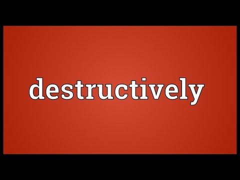 Header of destructively