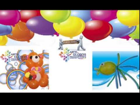 Curso de Globos Centro de Mesa en Globos.Centerpiece in balloons.