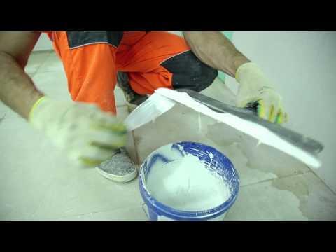 3. Замешивание и нанесение: Финишная шпаклёвка стен с использованием Крепс КР