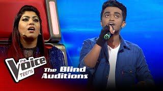 Ayesh Perera | Abhi Mujh Mein Kahin | Blind Auditions | The Voice Teens Sri Lanka