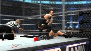 WWE 12 Goldberg VS Undertaker HELL IN A CELL
