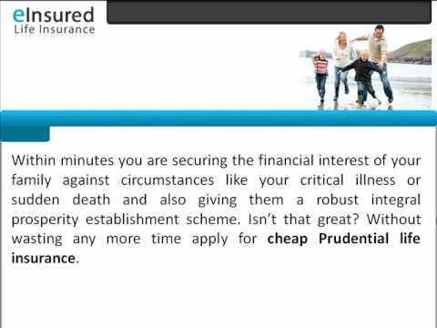 Cheap Prudential Life Insurance