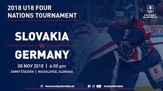 U18 Four Nations Tournament 2018 | Slovakia vs Germany