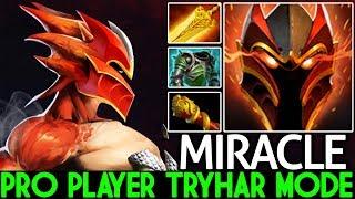 Miracle- [Dragon Knight] Monster Mid Lane Tryhard Mode 1v9 Gameplay 7.21 Dota 2