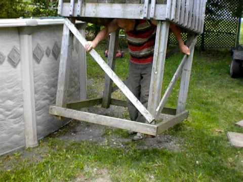 Deck piscine youtube for Construire deck piscine