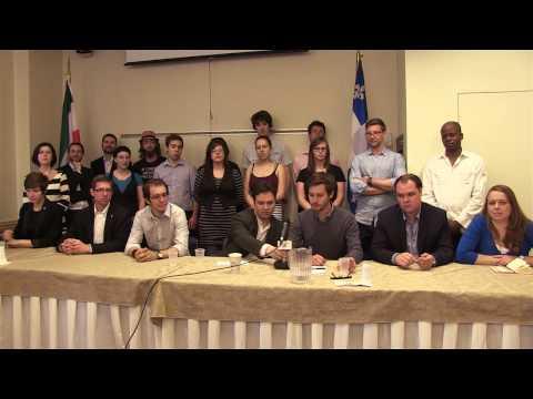 Conférence presse - Les jeunes et la souveraineté - 3 juin 2014
