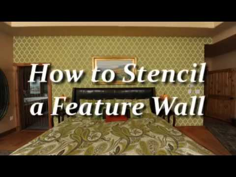 how to stencil a feature wall using a wall stencil by. Black Bedroom Furniture Sets. Home Design Ideas