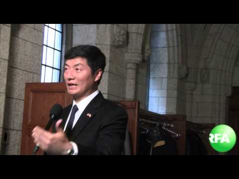 Sikyong Dr  Lobsang Sangay testified in Canadian parliament 2 26 2013