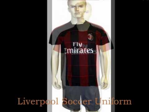 AC Milan Soccer Uniform, Liverpool Soccer Uniform, Soccer Wear, Sports Wear