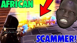 Hilarious AFRICAN Scammer Gets Scammed! *MUST WATCH* (Fortnite Save The World)