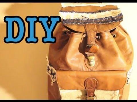 DIY: Boho Backpack (Like Brandy Melville or Target)