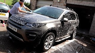 *FILTHY* Land Rover Discovery Sport Wash from Start to Finish.