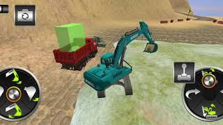 Bé lái máy xúc và xe ben chở cát#1-Real Excavator Simulator Master 3D 2018