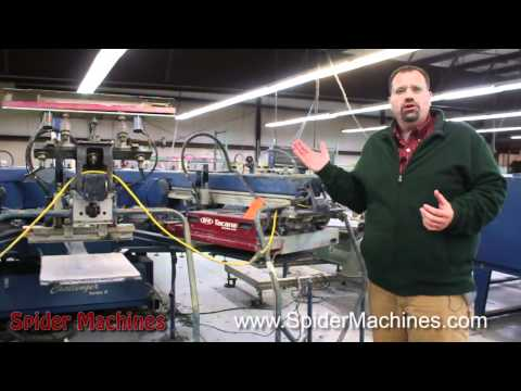 M&R - Auction - Challenger II - 14 color 16 station Robert Barnes - Spider Machines