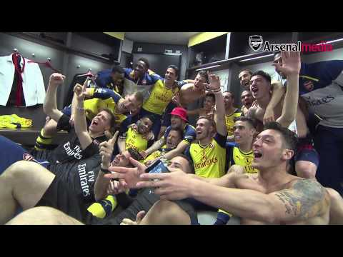 FA Cup final celebrations: Inside the Arsenal dressing room