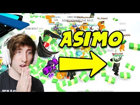 ASIMO3089 DROPPING CASH FOR PEOPLE IN MY GAME | Playing With Asimo3089 (Creator of Roblox Jailbreak)