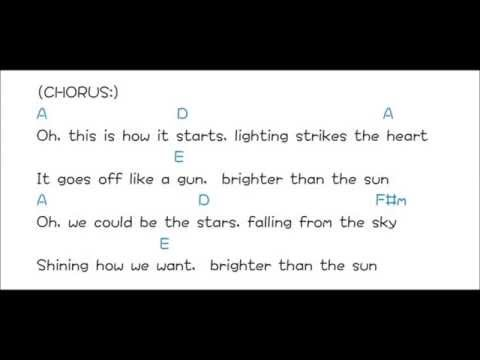 Brighter Than the Sun - Colbie Caillat      lyrics & chords