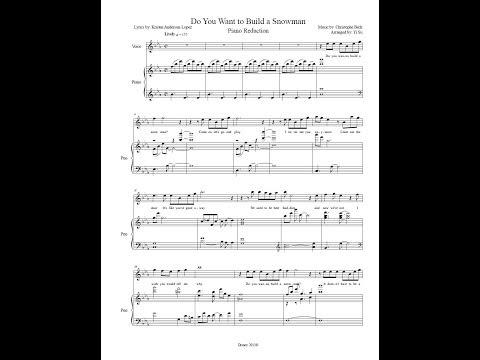 Do you want to build a snowman (piano accompaniment/sheet music)
