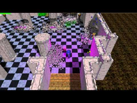 Voxel Game Trashing Castle