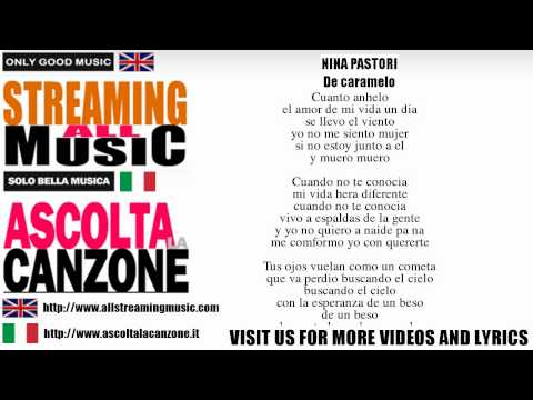 Ni�a Pastori - Nina Pastori - De caramelo (Lyrics / Testo)