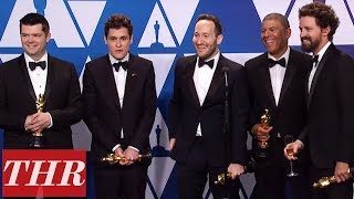 Oscars Winners For 'Spider-Man: Into The Spider-Verse' Full Press Room Speeches | THR