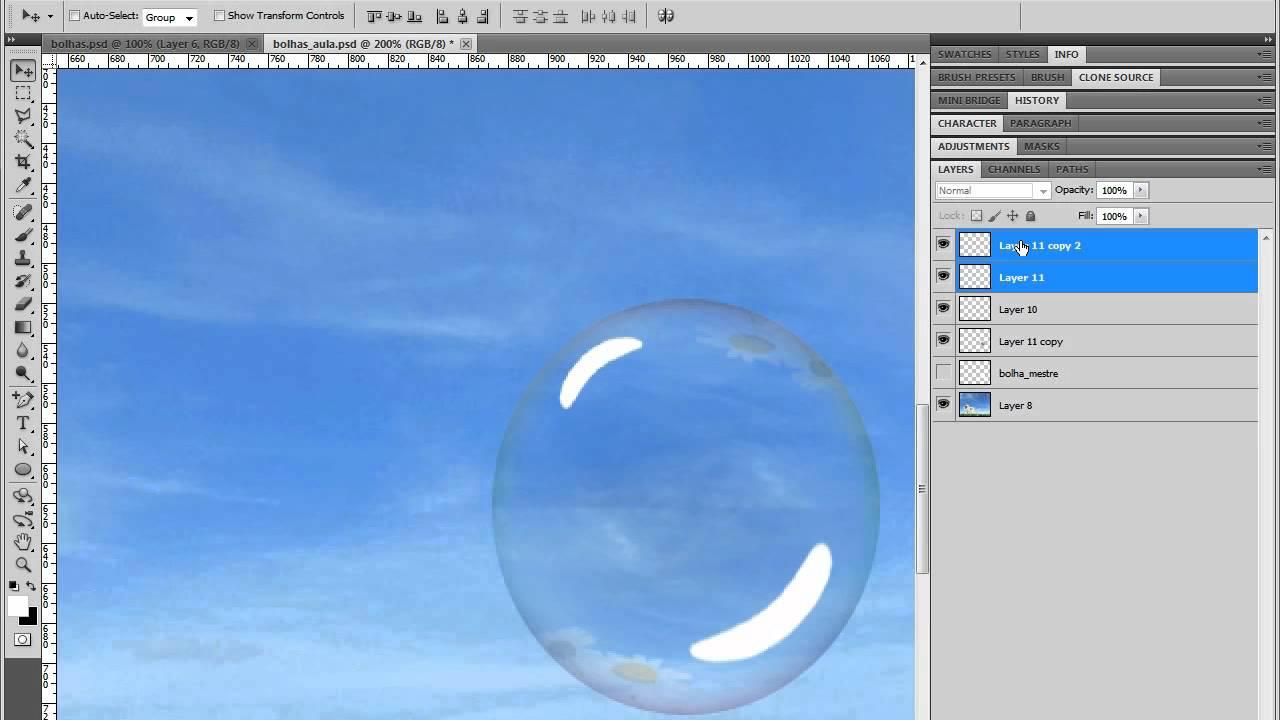 Bolhas de Sabão - Photoshop CS5 - YouTube