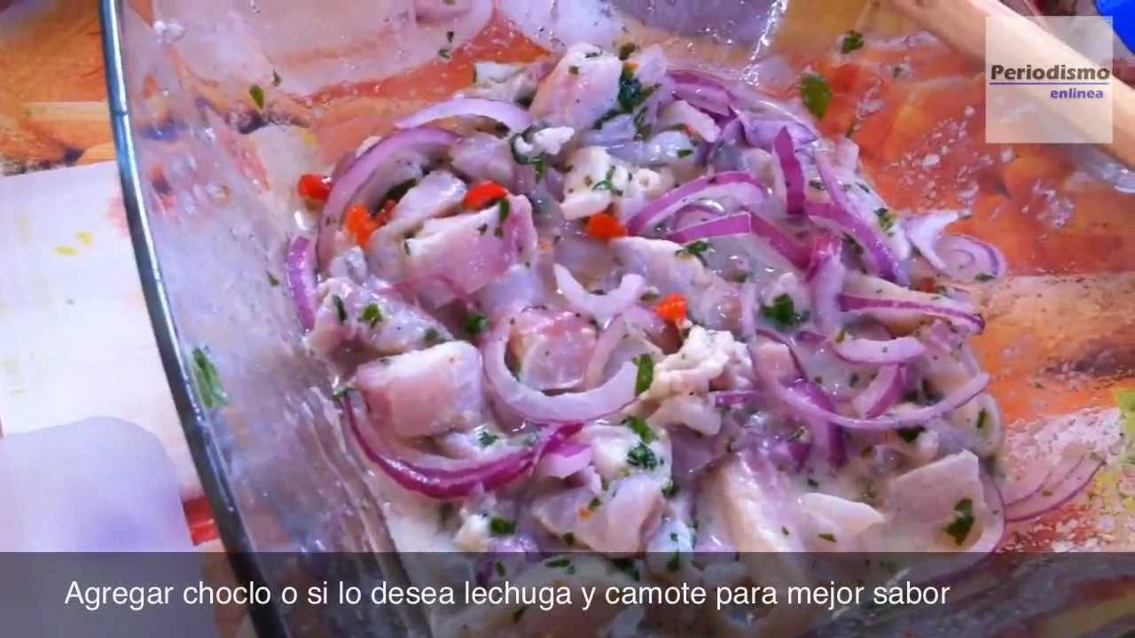 Receta cebiche peruano de tilapia pescado en 11 minutos for Criadero de pescado tilapia