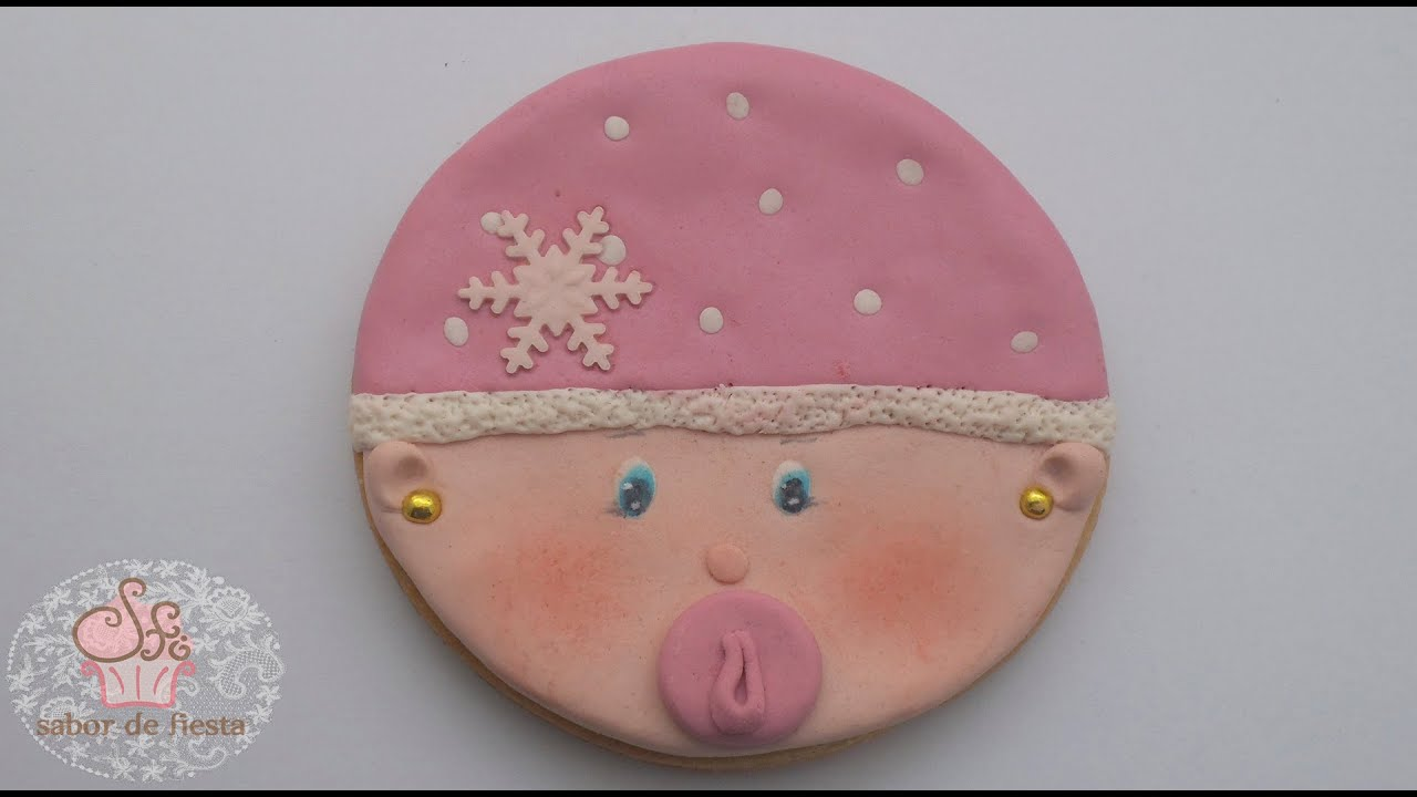 como decorar galleta para recuerdo de baby shower youtube