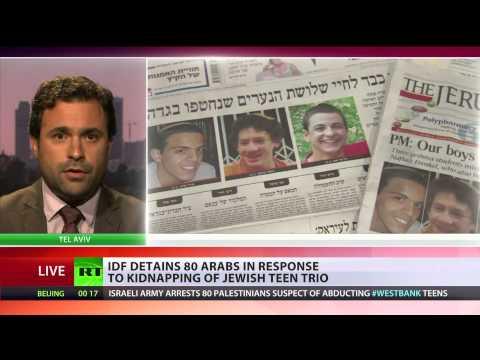 IDF detains 80 Palestinians after 3 Israeli teens go missing