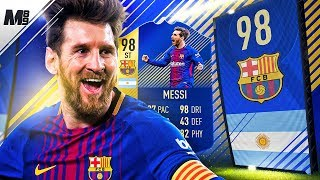FIFA 18 TOTS MESSI REVIEW | 98 TOTS ST MESSI PLAYER REVIEW | FIFA 18 ULTIMATE TEAM