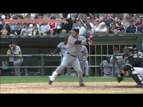 Jason Kipnis Slow Motion Home Run Baseball Swing - Hitting Mechanics Cleveland Indians MLB Drills