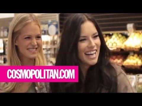 Victoria's Secret Angels Go Grocery Shopping | Harper's Bazaar The Look S2.E5