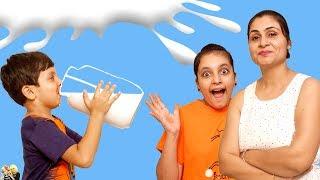 MORAL STORY FOR KIDS | DOODH | MILK CHALLENGE | #Fun #Kids #Bloopers Aayu and Pihu Show