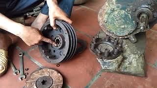 Hướng dẫn tháo ráp ,kiểm tra ,sửa chữa  hộp số máy cày ngồi ,công nông. Bài 1:Tháo ráp li hợp
