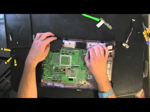 COMPAQ CQ50 laptop take apart video, disassemble, how to open disassembly