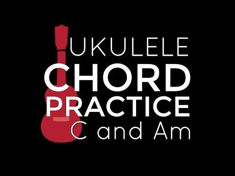Chord Playalong Practice C and Am - Ukulele School